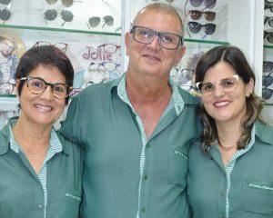 Elisabete, José Mansur e Najla Lessa