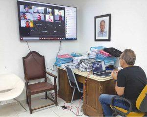 Reuniões remotas têm possibilitado o trabalho integrado entre saúde e hotelaria
